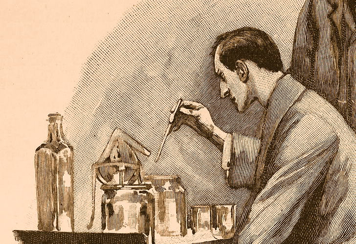 Illustration of Sherlock Holmes by Sidney Paget for the Strand Magazine.
